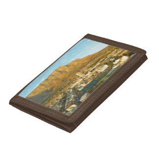 Cape Town Cityscape With Table Mountain Trifold Wallets