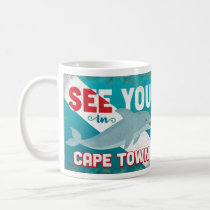 Cape Town Dolphin - Retro Vintage Travel