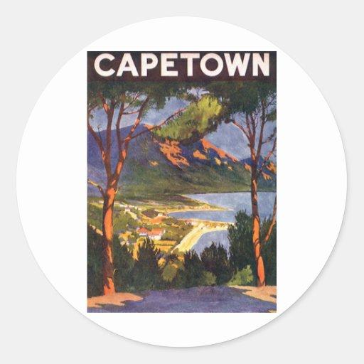 Cape Town Etiqueta Redonda