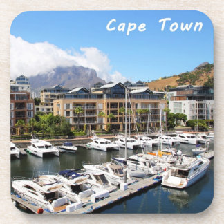 Cape Town Harbour and Table Mountain Beverage Coaster