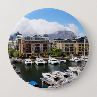 Cape Town Harbour and Table Mountain Button