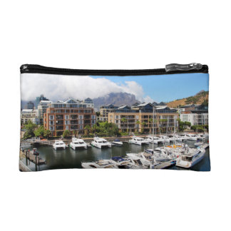 Cape Town Harbour and Table Mountain Cosmetic Bag
