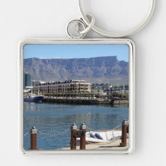 Cape Town Harbour and Table Mountain Keychain