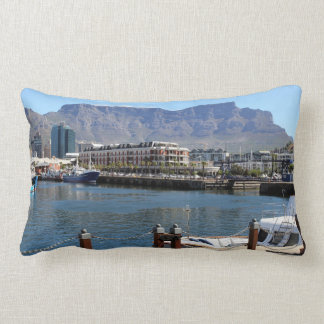 Cape Town harbour and Table Mountain Lumbar Pillow