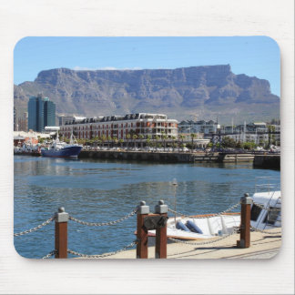 Cape Town Harbour and Table Mountain Mouse Pads