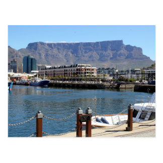 Cape Town Harbour and Table Mountain Postcard