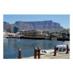 Cape Town Harbour and Table Mountain Print