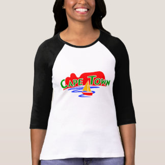 Cape Town Ladies 3/4 Sleeve Raglan Custom T-Shirts