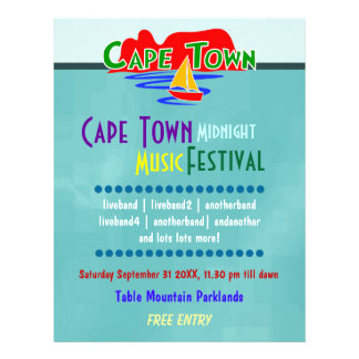 Cape Town Music Festival Custom Flyer