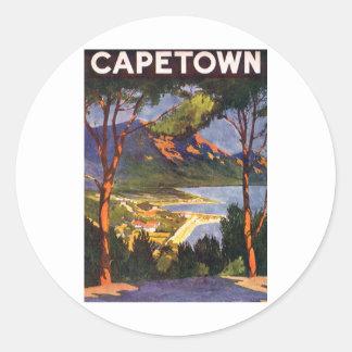 Cape Town Pegatina Redonda
