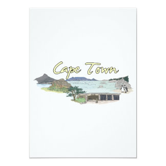 """Cape Town - South Africa.png 5"""" X 7"""" Invitation Card"""
