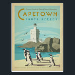 "Cape Town, South Africa Postcard<br><div class=""desc"">Anderson Design Group is an award-winning illustration and design firm in Nashville,  Tennessee. Founder Joel Anderson directs a team of talented artists to create original poster art that looks like classic vintage advertising prints from the 1920s to the 1960s.</div>"
