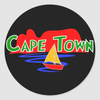 Cape Town South Africa Round Stickers