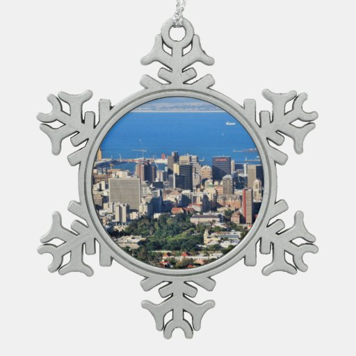Garden Decor Cape Town: Cape Town, South Africa Snowflake Pewter Christmas