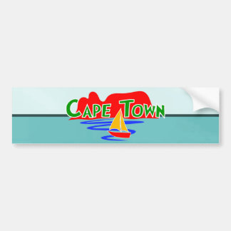 Cape Town Table Mountain Blue Bumper Stickers