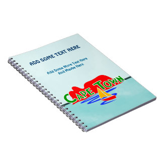 Cape Town Table Mountain Blue Spiral Notebooks