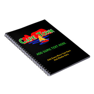 Cape Town Table Mountain Custom Spiral Notebooks Notebooks