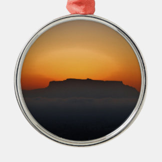 Cape Town Table Mountain Metal Ornament