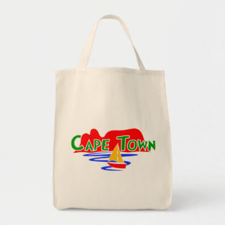 Cape Town Table Mountain Organic Grocery Tote Bag