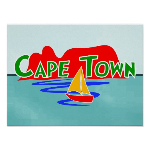 Cape Town Table Mountain South Africa Poster Print | Zazzle