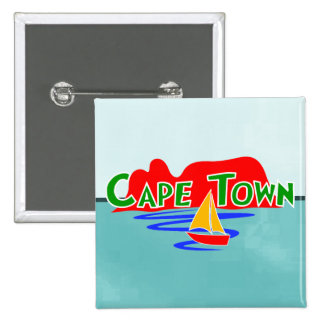 Cape Town Table Mountain South Africa Square Badge Pinback Button