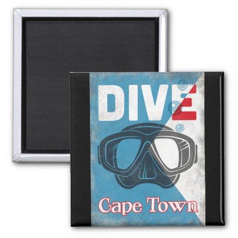 Cape Town Vintage Scuba Diving Mask Magnet