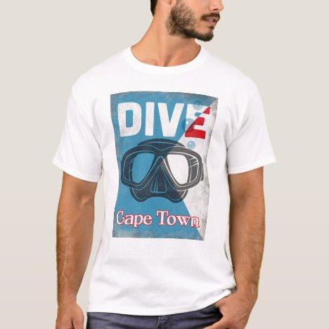 Cape Town Vintage Scuba Diving Mask T-Shirt