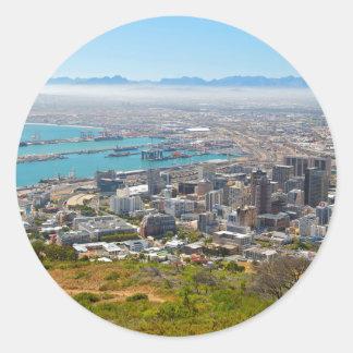 Cape Town, Western Cape, Suráfrica 3 Pegatina Redonda