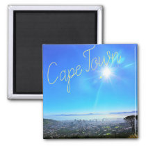Cape Town ZA South Africa Ocean Panorama Magnet