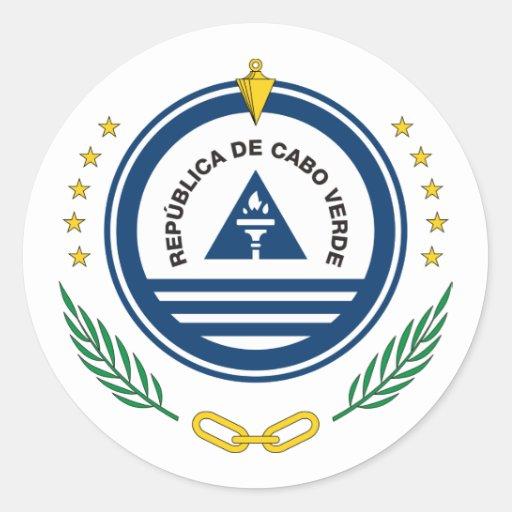 Cape Verde, Cape Verde Classic Round Sticker