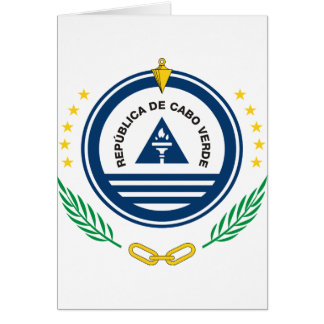 Cape Verde Coat Of Arms Card