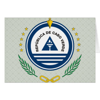 Cape Verde Coat of Arms detail Greeting Card