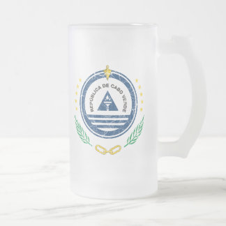 Cape Verde Coat Of Arms Frosted Glass Beer Mug