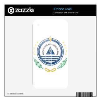 Cape Verde Coat Of Arms Skins For iPhone 4S