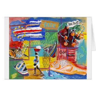 Cape Verde collage Card