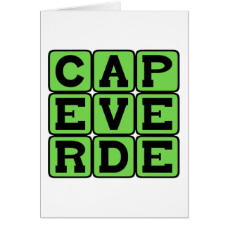 Cape Verde, Country in Africa Card