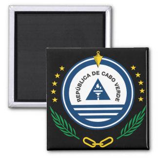 cape verde emblem 2 inch square magnet