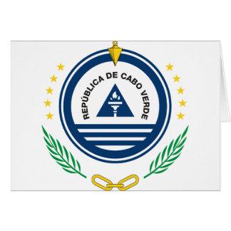 cape verde emblem card