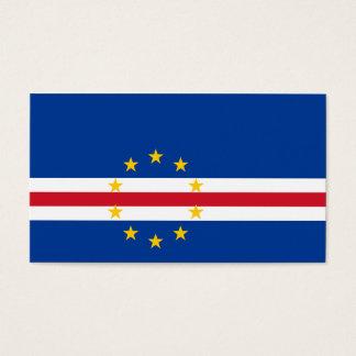 Cape Verde Flag Business Card