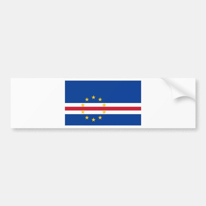 Cape Verde Flag CV Bumper Sticker