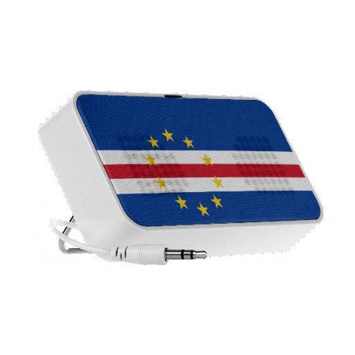 Cape Verde Flag Doodle Laptop Speakers