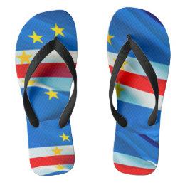 Cape Verde Flag Flip Flops