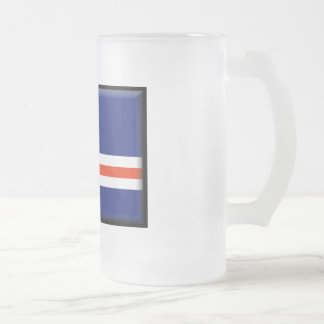 Cape Verde Flag Frosted Glass Beer Mug