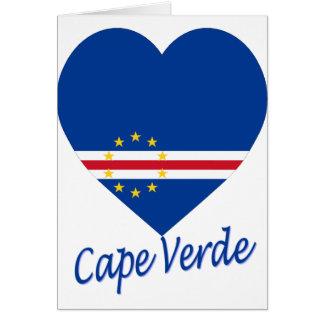 Cape Verde Flag Heart Card