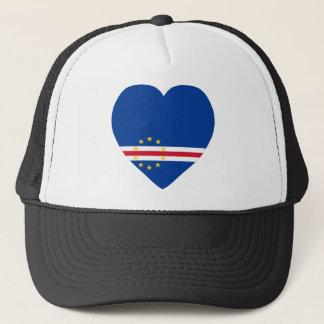 Cape Verde Flag Heart Trucker Hat