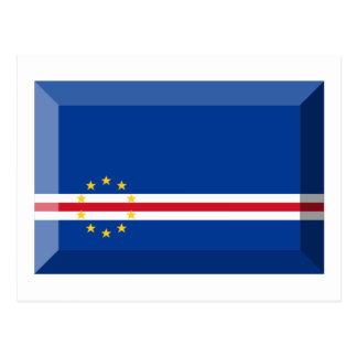 Cape Verde Flag Jewel Post Card