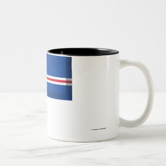 Cape Verde Flag Jewel Two-Tone Coffee Mug