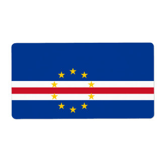 Cape Verde Flag Label