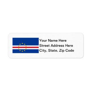Cape Verde Flag Return Address Label