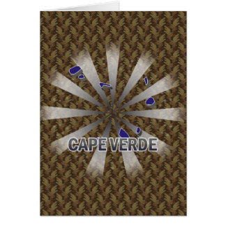 Cape Verde Flag Map 2.0 Greeting Card